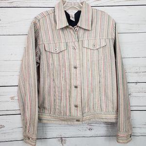Northern Reflections Vintage Trucker Jacket-stripe